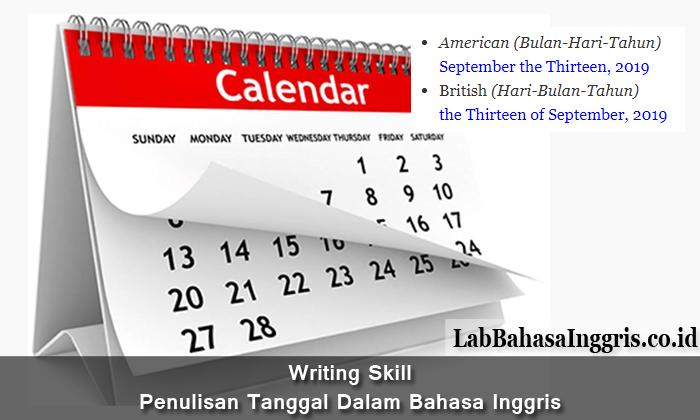 Writing Skill: Penulisan Tanggal Dalam Bahasa Inggris