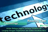 Artikel Bahasa Inggris Tentang Teknologi Lengkap Dengan Terjemahan dan Daftar Kosakata Baru